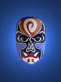 Mask of chinese opera with blue isolated background — Stock Photo
