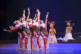 Chinese folk dance performance — Stock Photo