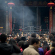Stock Photo: Burn incense to pray in temple