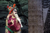Chinese traditional opera actor with theatrical costume and facial painting — Stock Photo