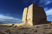 The Second Pier of Great Wall in the Gobi desert in Jiayuguan city,china — Stock Photo