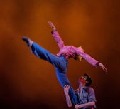 かなり中国踊っている女の子 — ストック写真