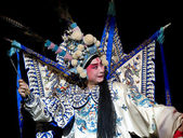 Chinese traditional opera actor with theatrical costume — Foto de Stock