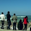 Egyptians looking landscape at seaside of Mediterranean — Stock Photo