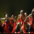 Chinese national dancers — Stock Photo