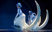 Vrij chinese mosuo nationale danser — Stockfoto