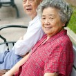 Portrait of happy grandfather and grandmother — Stock Photo