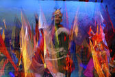 Tibetische ethnischen tänzer — Stockfoto