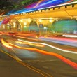 High speed traffic and blurred light trails under the overpass — Stock Photo #7653762