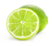 Fresh lime and slice — Stock Photo