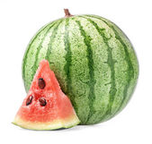 Watermelon, (with clipping paths) — Zdjęcie stockowe