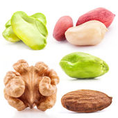 Walnut, Almond and Pistachio nuts Kernel — Stock Photo