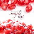 Pomegranate fruit seeds - Stock Photo