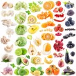 Collection of fruits and vegetables — 图库照片