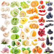 Collection of fruits and vegetables — Stockfoto