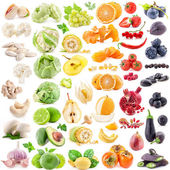 Collection of fruits and vegetables — Foto Stock