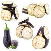 Eggplant sliced — Stock Photo