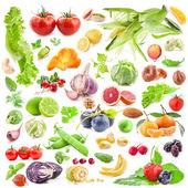 Grande coleção de frutos e produtos hortícolas — Foto Stock