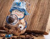 Handmade Rag doll Coffee fairy — Stock Photo