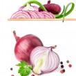 Onion and spices — Stock Photo