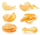 Rippled potato chips — Stock Photo