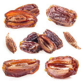 Collections of Sun-dried dates fruit — Stock Photo