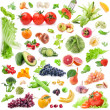 Big Collection of fruits and vegetables — Stock Photo #25734607
