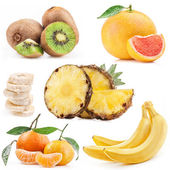 Collection of tropical fruits — Stock Photo