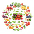 Big Collection of fruits and vegetables — Stock Photo #26132417