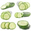 Stock Photo: Collections of Cucumber slices