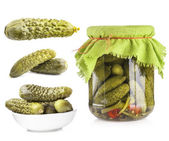 Collection of Pickles cucumbers — Stock Photo