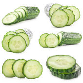 Collections of Cucumber slices — Foto Stock