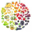 Collection of fruits — Stock Photo #44260739