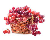 Red grape in basket — Stock Photo