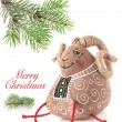 Christmas decoration toy sheep — Stock Photo #49790797
