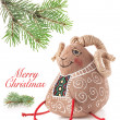 ������, ������: Christmas decoration toy sheep