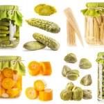 Preserved vegetables — Stock Photo