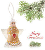 Christmas doll an Flying angel — Stock Photo