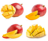 Collections of Ripe mango with slice — Stock Photo
