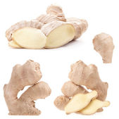 Collection Ginger root — Stock Photo