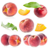 Collections of ripe peach — Stock Photo
