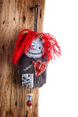 Handmade Pincushion doll — Stock Photo