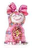 Handmade rag doll — Stock Photo