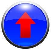 Glossy Button — Stock Photo