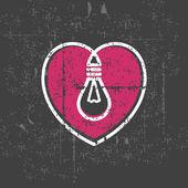 Lamp inside heart — Stock vektor