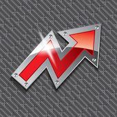 Metallic Arrow — Stock Vector