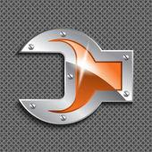 Metallic wrench — Stock Vector