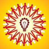Simbolo di unità con il concetto di idea — Vettoriale Stock
