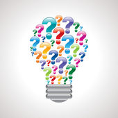 Question mark bulb — Stock Vector