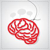 Brain with tag — 图库矢量图片